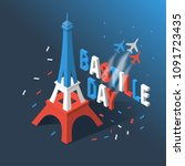 bastille day  independence day... | Shutterstock .eps vector #1091723435