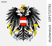 symbol of austria. national... | Shutterstock .eps vector #1091725781