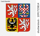symbol of czech republic.... | Shutterstock .eps vector #1091725814