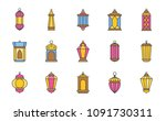 arab lamp or ramadan lantern ...   Shutterstock .eps vector #1091730311