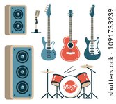 musical instruments for rock... | Shutterstock .eps vector #1091733239