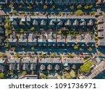 aerial houses residential... | Shutterstock . vector #1091736971
