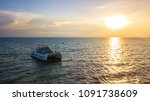 sunset view with yachts in the... | Shutterstock . vector #1091738609