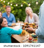 group of friends in their... | Shutterstock . vector #1091741147