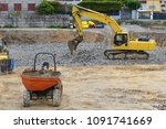 construction machinery on the...   Shutterstock . vector #1091741669