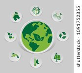 icon environmental and eco... | Shutterstock .eps vector #1091752355