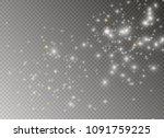 white sparks and golden stars... | Shutterstock .eps vector #1091759225