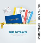 banner concept for travel and... | Shutterstock .eps vector #1091760701