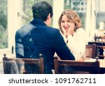 business couple dating in the... | Shutterstock . vector #1091762711