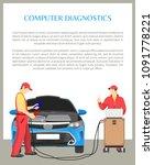 computer diagnostics poster...   Shutterstock .eps vector #1091778221