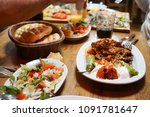 traditional middle eastern food | Shutterstock . vector #1091781647
