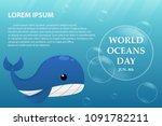illustration world oceans day   ... | Shutterstock .eps vector #1091782211
