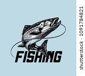 fishing illustration template...   Shutterstock .eps vector #1091784821