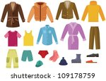 color men clothing collection | Shutterstock . vector #109178759