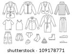 outline men clothing collection | Shutterstock . vector #109178771