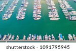 aerial view of yacht marina | Shutterstock . vector #1091795945