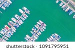 aerial view of yacht marina | Shutterstock . vector #1091795951