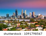 perth. cityscape image of perth ... | Shutterstock . vector #1091798567