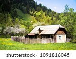 traditional old wooden house in ...   Shutterstock . vector #1091816045