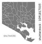 baltimore maryland city map... | Shutterstock .eps vector #1091817035