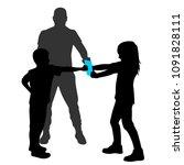 children practice martial arts  ... | Shutterstock .eps vector #1091828111