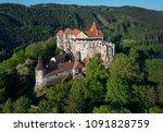 moravian castle pernstejn ... | Shutterstock . vector #1091828759