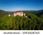 moravian castle pernstejn ... | Shutterstock . vector #1091828765