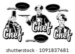 set chef people logo badges | Shutterstock .eps vector #1091837681