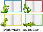 a set of crocodile template... | Shutterstock .eps vector #1091837834
