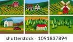 a set of rural area illustration | Shutterstock .eps vector #1091837894