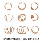 round stains from coffee.... | Shutterstock .eps vector #1091841215