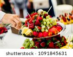 fruits and desserts on the... | Shutterstock . vector #1091845631