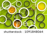 abstract circles with lines on...   Shutterstock . vector #1091848064