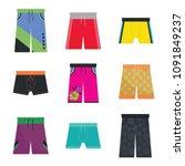 men swimsuit vectors. coroful... | Shutterstock .eps vector #1091849237