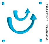 set of 3d arrow vector icons.... | Shutterstock .eps vector #1091851451