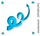 set of 3d arrow vector icons.... | Shutterstock .eps vector #1091851541