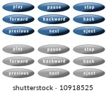 set of nine blue buttons and... | Shutterstock . vector #10918525