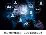 architecture of erp  enterprise ... | Shutterstock . vector #1091855105