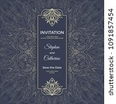 save the date invitation card... | Shutterstock .eps vector #1091857454