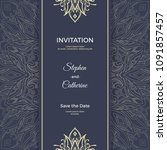 save the date invitation card... | Shutterstock .eps vector #1091857457