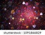 Bright Galaxy. Abstract Shinin...