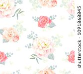 seamless gentle pattern with... | Shutterstock .eps vector #1091868845