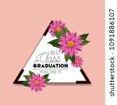 class of the year triangular... | Shutterstock .eps vector #1091886107
