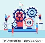 service work   flat design...   Shutterstock .eps vector #1091887307