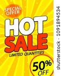 hot sale  50  off  poster... | Shutterstock .eps vector #1091894534