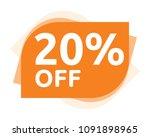 20 percent discount sticker... | Shutterstock .eps vector #1091898965