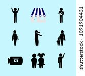 icons about human with invalid  ... | Shutterstock .eps vector #1091904431