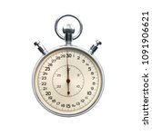 stopwatch isolated on white... | Shutterstock . vector #1091906621