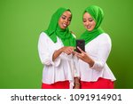 young african muslim woman... | Shutterstock . vector #1091914901