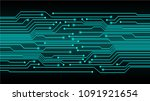 binary circuit board future...   Shutterstock .eps vector #1091921654